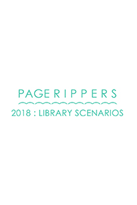 The book jacket for Page Rippers 2018, curated and edited by Peter E. Roberts and Amy Paige Condon
