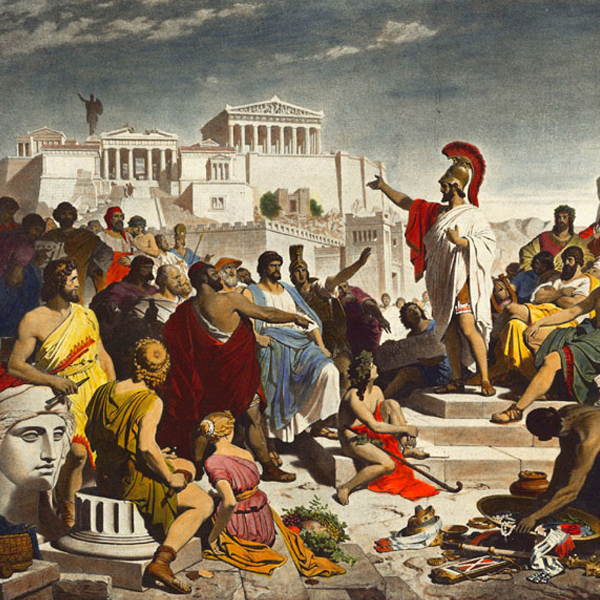 "Painting ""The Age of Pericles"" by Philipp von Foltz (1852)"