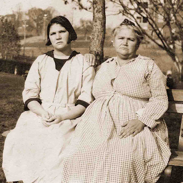 Carrie Buck and her mother, Emma. Photo © The M.E. Grenander Special Collections and Archives, University at Albany
